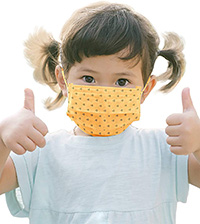 Organic Cotton Covid Mask for Children